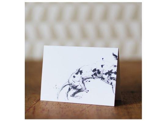 Leaping dalmatian card