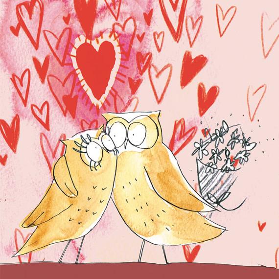 Valentines owls