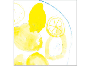 Lemons on a plate