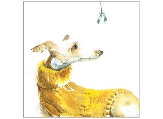 hopeful christmas card whippet